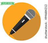 icon microphone isolated ... | Shutterstock .eps vector #494684212