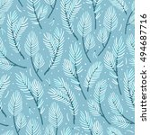vector seamless pattern with... | Shutterstock .eps vector #494687716