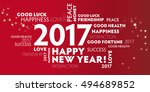 new year's eve    red postcard... | Shutterstock . vector #494689852