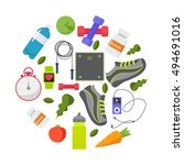 vector flat icons  set of... | Shutterstock .eps vector #494691016