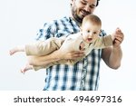baby with father | Shutterstock . vector #494697316