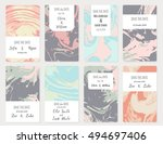 vector set of card templates.... | Shutterstock .eps vector #494697406