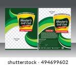 golf tournament flyer template... | Shutterstock .eps vector #494699602