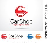 car shop center logo template... | Shutterstock .eps vector #494711146