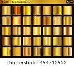 set of gold gradients.golden...   Shutterstock .eps vector #494712952