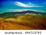 mountain landscape clouds in... | Shutterstock . vector #494713795
