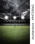 rugby stadium 3d rendering | Shutterstock . vector #494723062