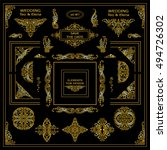 vector set of vintage elements... | Shutterstock .eps vector #494726302