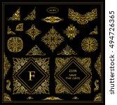 vector set of vintage elements... | Shutterstock .eps vector #494726365