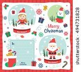 a set of christmas design... | Shutterstock .eps vector #494731828
