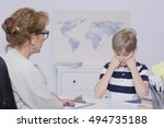 shot of a unhappy student... | Shutterstock . vector #494735188
