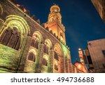 arabic bazaar in el moez street ...   Shutterstock . vector #494736688
