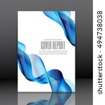 template design for cover.... | Shutterstock .eps vector #494738038