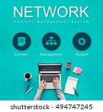 network website development... | Shutterstock . vector #494747245