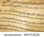 Music Notes On Stave  Abstract...