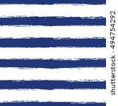 horizontal seamless striped... | Shutterstock .eps vector #494754292