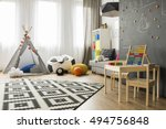 spacious child room with window ...