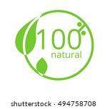 eco natural green logo sign... | Shutterstock .eps vector #494758708