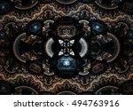 abstract fractal elegant... | Shutterstock . vector #494763916
