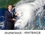 meteorologist forecasting... | Shutterstock . vector #494784418