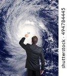 meteorologist forecasting... | Shutterstock . vector #494784445