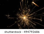sparkler on black | Shutterstock . vector #494792686