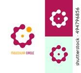 among molecules. icon or logo... | Shutterstock .eps vector #494796856
