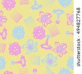 seamless     pattern of ... | Shutterstock .eps vector #494827768