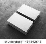 3d rendering of business card | Shutterstock . vector #494842648