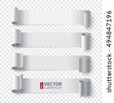 curled white paper stripe... | Shutterstock .eps vector #494847196