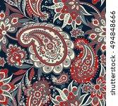 paisley seamless  pattern....   Shutterstock .eps vector #494848666