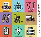 medical color icon set. line... | Shutterstock .eps vector #494859976