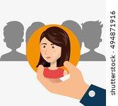 human resource design | Shutterstock .eps vector #494871916
