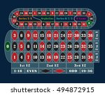 traditional european roulette... | Shutterstock . vector #494872915