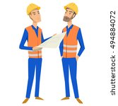 two full length persons ... | Shutterstock .eps vector #494884072