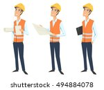 set of three full length... | Shutterstock .eps vector #494884078
