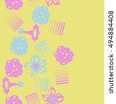 seamless    vertical  pattern... | Shutterstock . vector #494884408