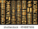 beautiful luxury ribbons and... | Shutterstock .eps vector #494887606