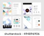 geometric background template... | Shutterstock .eps vector #494896906
