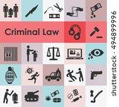 vector illustration of criminal ... | Shutterstock .eps vector #494899996