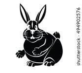 rabbit. vector illustration....   Shutterstock .eps vector #494902576