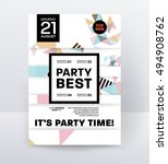 invitation disco party poster... | Shutterstock .eps vector #494908762