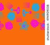 seamless   horizontal  pattern... | Shutterstock .eps vector #494909038