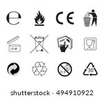 set of packaging symbols.... | Shutterstock . vector #494910922