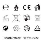 set of packaging symbols.... | Shutterstock . vector #494910922
