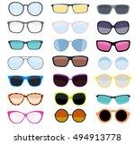 hipster summer sunglasses...   Shutterstock .eps vector #494913778