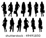 sale women silhouette isolated...   Shutterstock .eps vector #49491850
