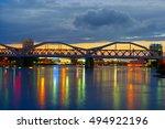 bridge over the neckar river ... | Shutterstock . vector #494922196