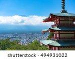 Chureito Pagoda With Mount Fuj...