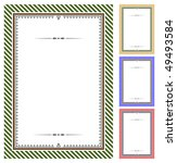 set of vector certificates | Shutterstock .eps vector #49493584